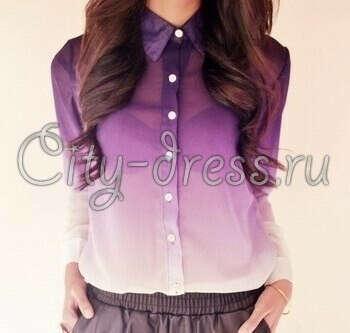 Блузка с градиентом