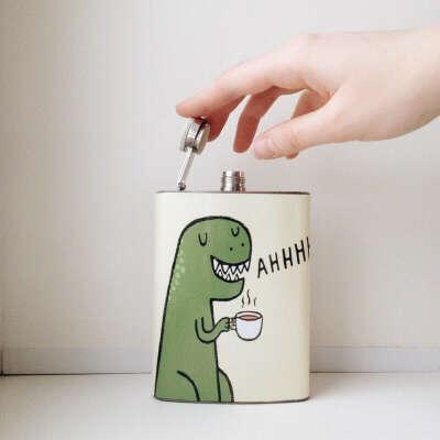 Фляга с динозавром