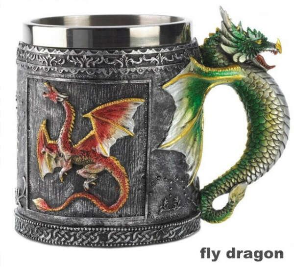 Кружка с драконом