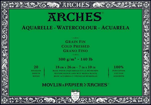 Бумага для акварели Arches, 100% хлопок