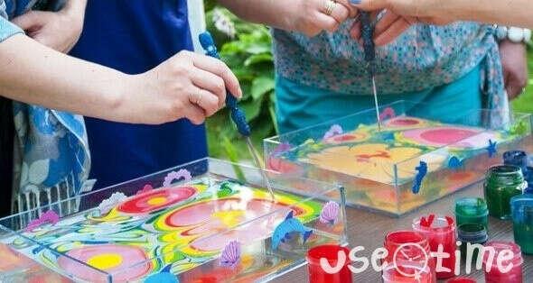 Мастер-класс по эбру «Искусство в капле воды» в Казани