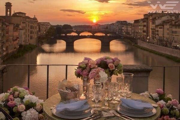романтический вечер во флоренции