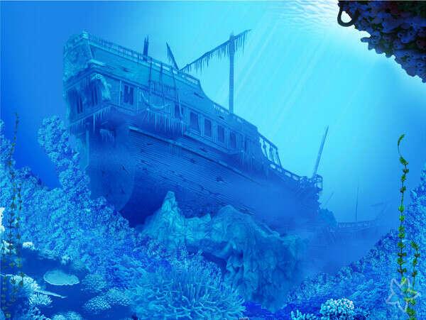 посетить затонувший корабль
