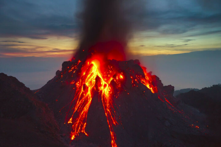 Увидеть и заснять извержение вулкана
