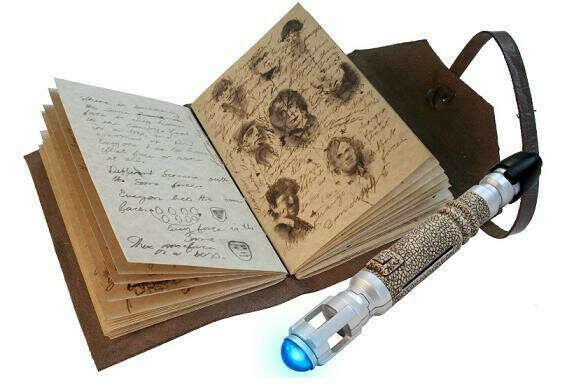 Журнал Невозможных вещей с мини ручкой-отверткой Доктора Кто