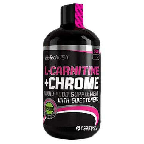 Жиросжигатель Biotech L-CARNITINE+СHROME 70 000 500мл апельсин (5999076204526)