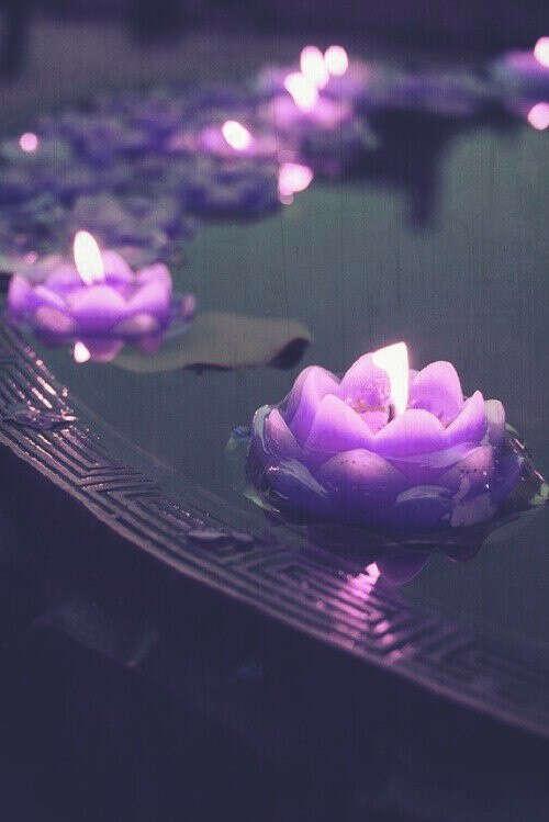 Набор плавающих свечей.
