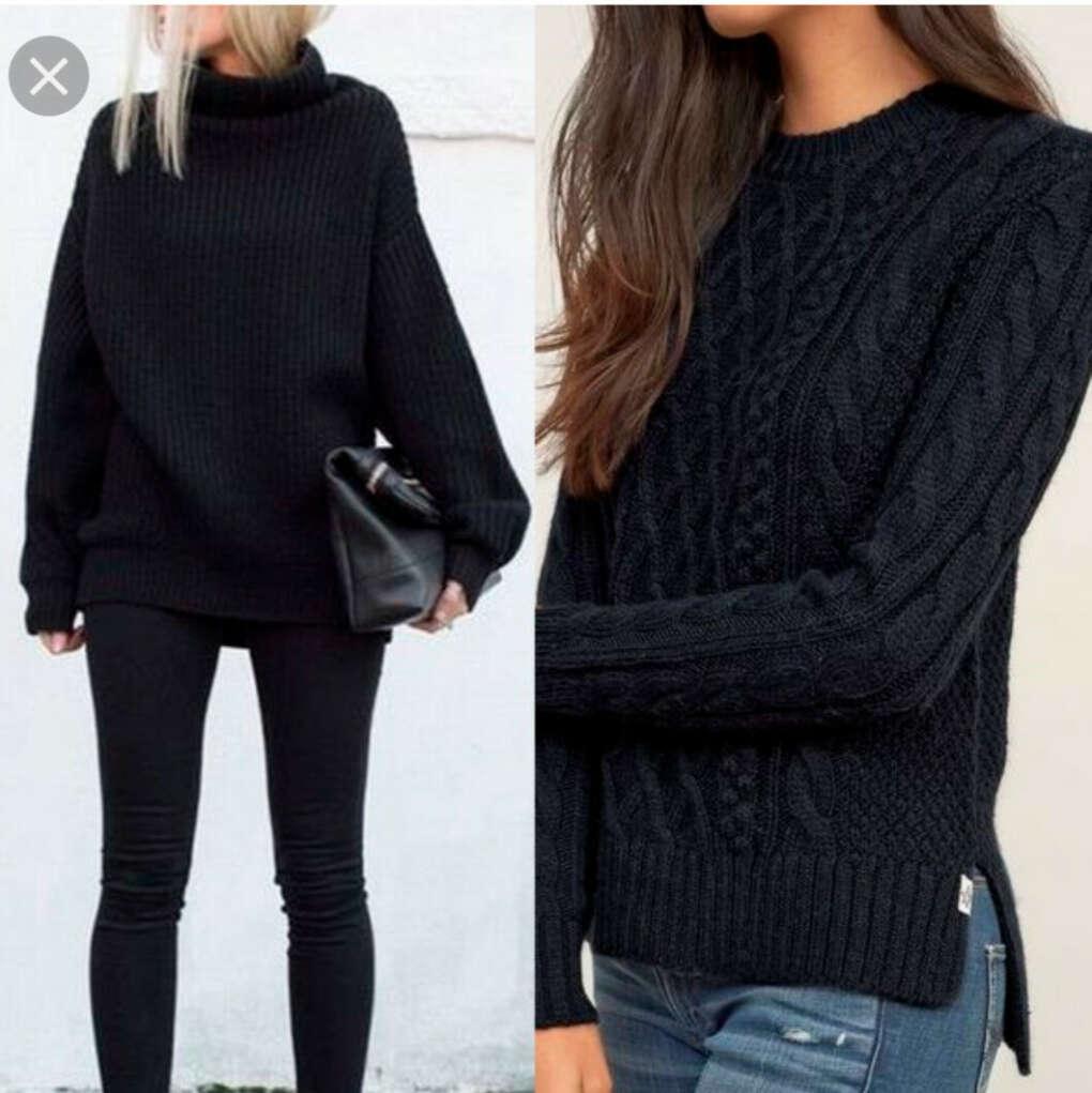 Чёрный свитер(много)