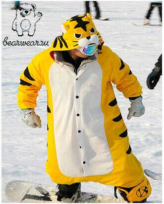 Прикольный костюм для сноубординга