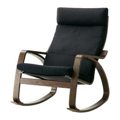 ПОЭНГ Кресло-качалка - Альме неокрашенный, березовый шпон  - IKEA