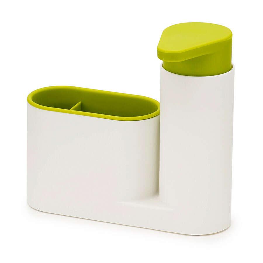 Органайзер для раковины с дозатором для мыла SinkBase белый-зеленый