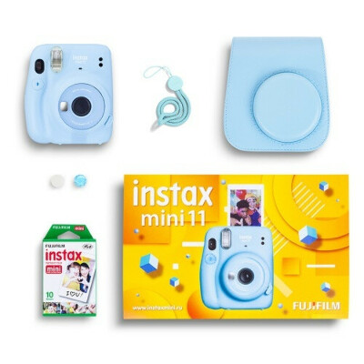 Fujifilm Instax Mini 11 Blue Geometric Set