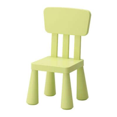МАММУТ Детский стул - д/дома/улицы/светло-зеленый,    - IKEA