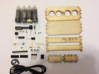 Конструктор для сборки ламповых часов на ИН-14