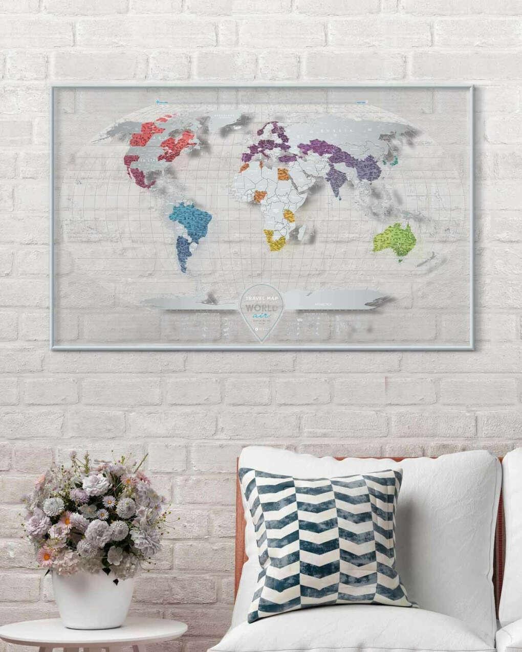 Скретч-карта Travel Map™ Air World 96 х 60 cm