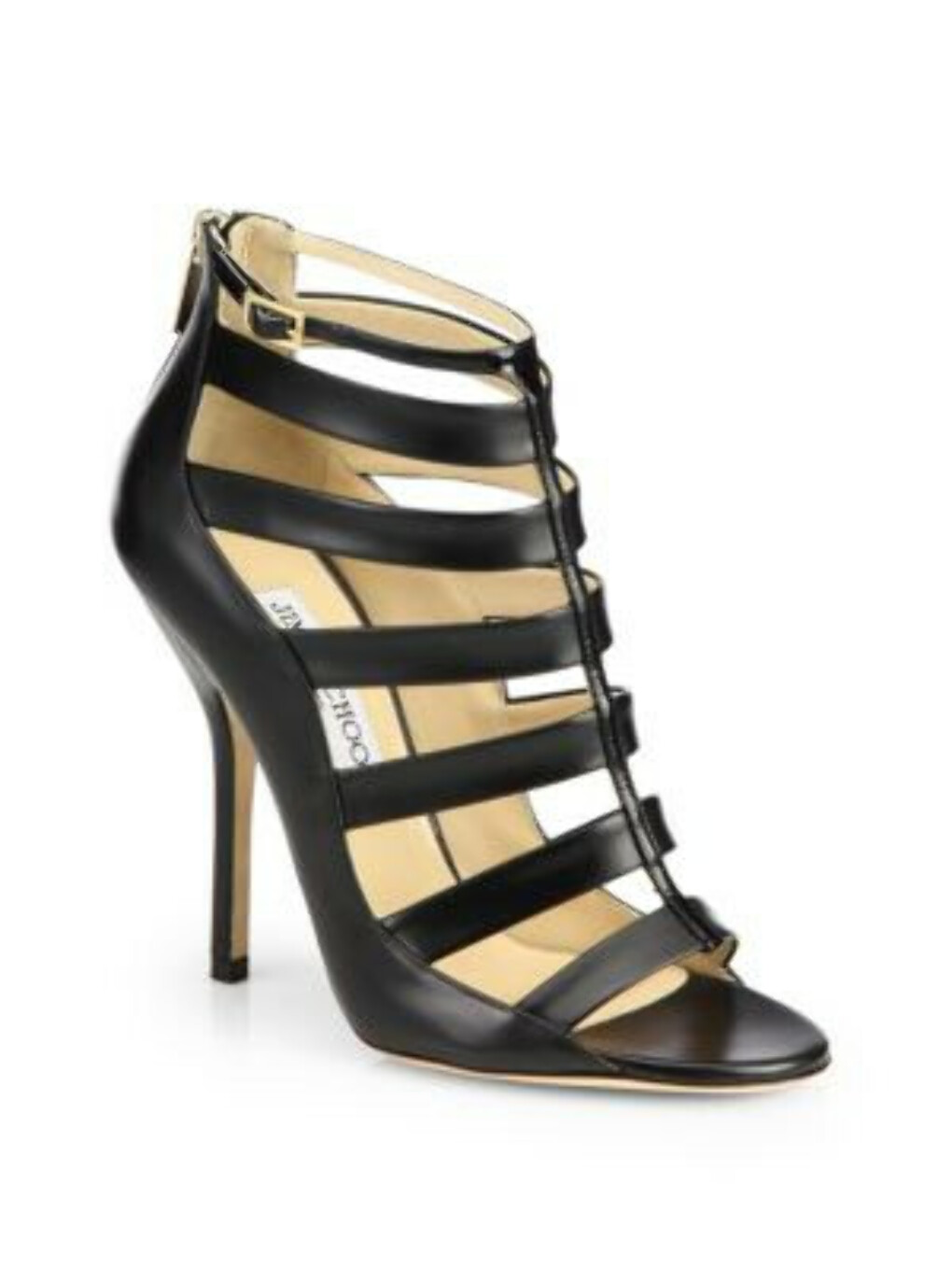 Jimmy Choo - Fathom Strappy Leather Ankle Boots