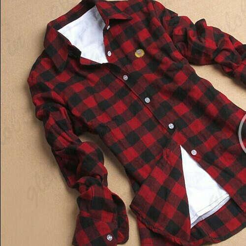 Клетчатая красная рубашка