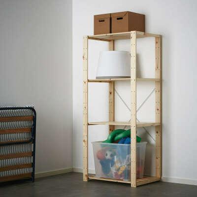 ХЕЙНЕ 1 секция, хвойное дерево, 78x50x171 см купить онлайн в интернет-магазине - IKEA