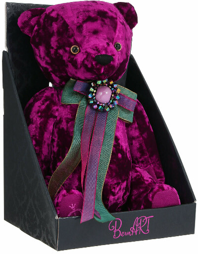 BernArt Мягкая игрушка Медведь цвет пурпурный