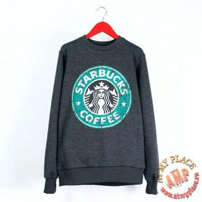 Серая толстовка-свитшот Starbucks
