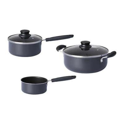 Набор кухонной посуды, 3 предметa