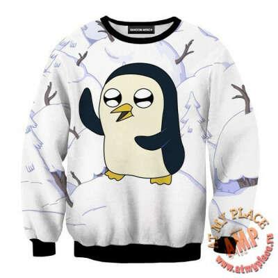Свитшот Adventure Time - Пингвин Гюнтер