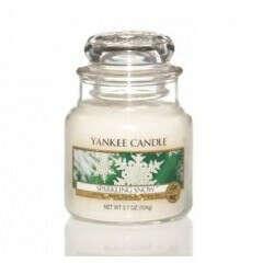Ароматические свечи. Купить свечу ароматизированную Yankee candle Искристый снег маленькая