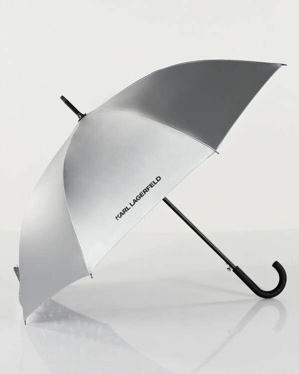 KARL LAGERFELD Металлизированный зонт K/Ikonik с внутренним принтом