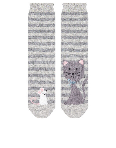 Cat And Mouse Socks | Grey | Accessorize