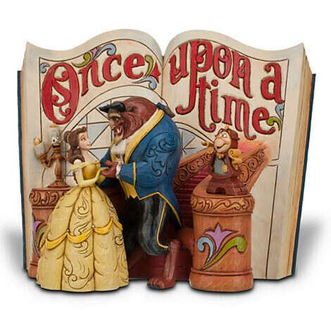 Beauty and the Beast Story Book Figurine