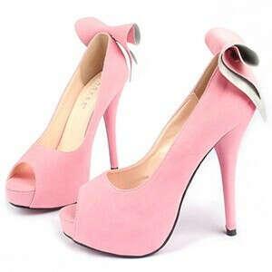 Туфли розовые с бантами