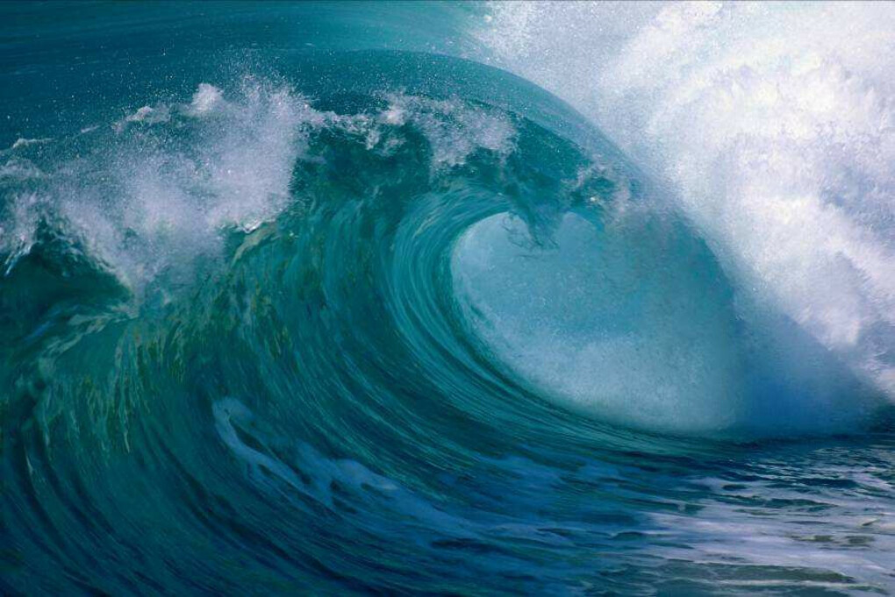 Увидеть большие волны.