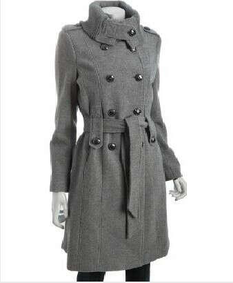 Серое весеннее пальто