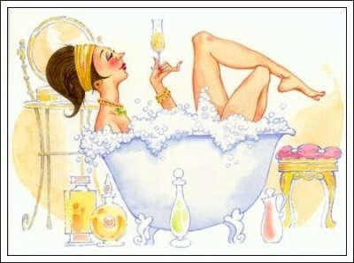 Принять ванну с шампанским