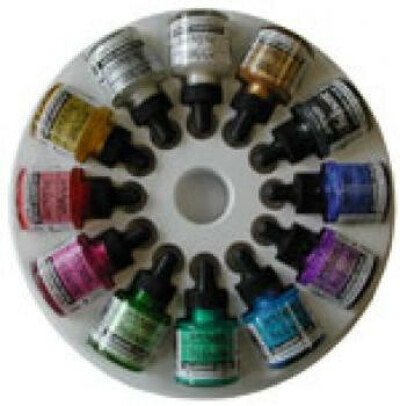 Dr Martin's Iridescent Calligraphy Colors - Set of 12 Colors