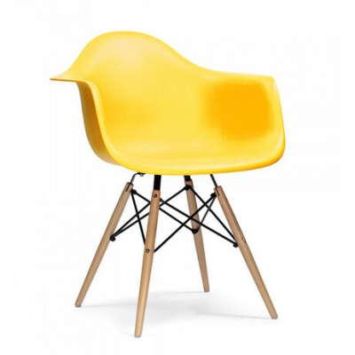Стул Eames Style DAW Chair желтый