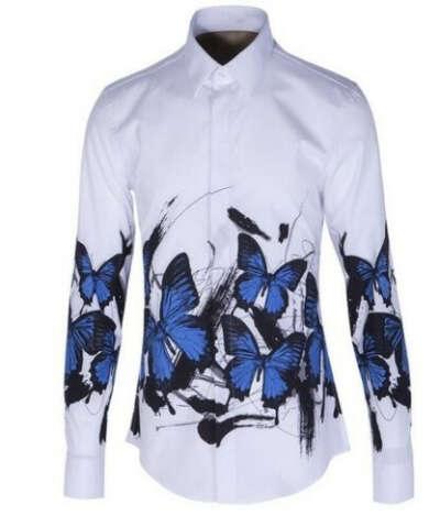 Рубашка с бабочками