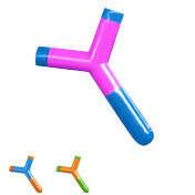 Сплиттер для наушников Catapult (разные цвета) / Розовый с голубым