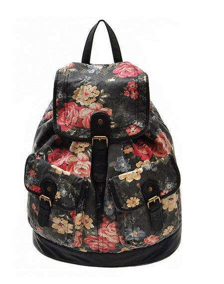 Рюкзак с цветочным принтом)