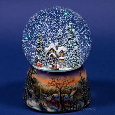 Большой новогодний снежный шар )))