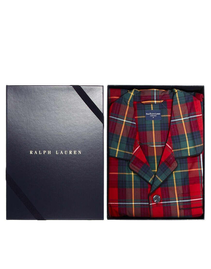 Пижамный комплект в шотландскую клетку Polo Ralph Lauren