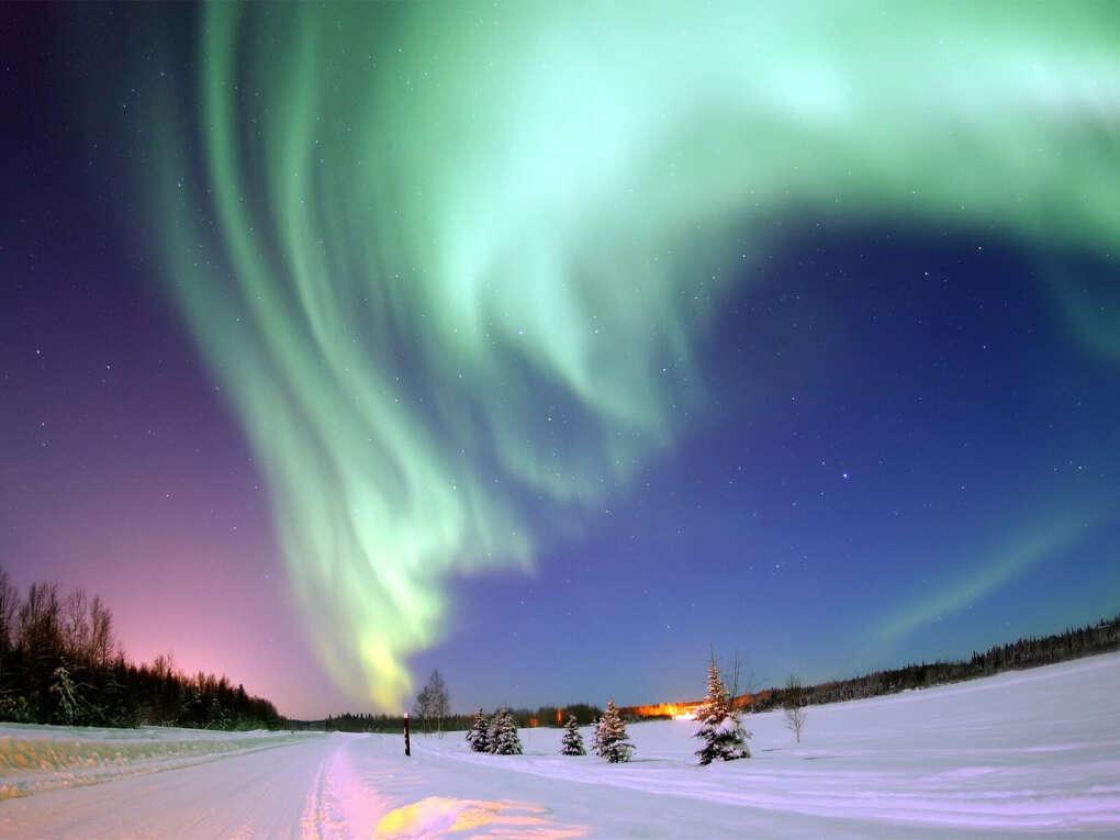 Увидеть полярное сияние