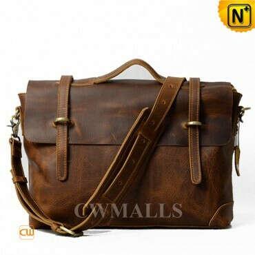 CWMALLS® Men Retro Leather Satchel Bag CW915749