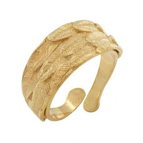 TARATATA | Купить Кольцо Picolo, разъемное, золотистое с гравировкой