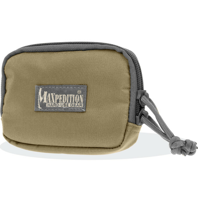 Maxpedition HOOK-&- LOOP Zipper Pocket KHAKI FOLIAGE 3526KF