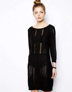 Вязанное платье