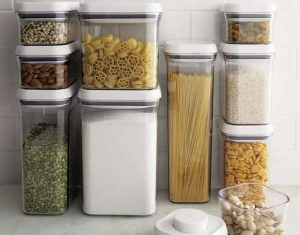 Большой набор контейнеров для организации хранения на кухне