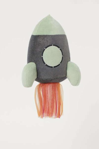 Мягкая игрушка в форме космического корабля
