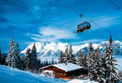 путешествие на горнолыжный курорт в Австрию