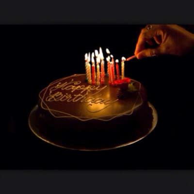 Торт со свечками